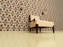 коричневый стул Стоковые Фотографии RF