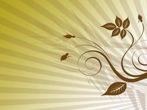 коричневый цветок Иллюстрация вектора