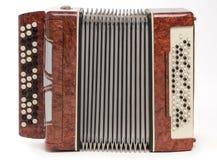 коричневый цвет аккордеони bayan стоковые фотографии rf