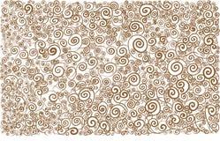 Коричневый цвет арабескы белый развевает линии картина предпосылки кривых стоковое фото rf
