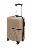 Коричневый цвет багажа чемодана изолированный на белой предпосылке стоковое фото