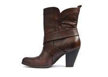 коричневый цвет ботинка Стоковое фото RF