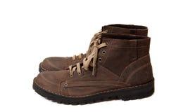 коричневый цвет ботинок Стоковое фото RF