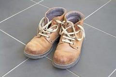 коричневый цвет ботинок Стоковое Изображение RF