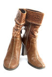 коричневый цвет ботинок Стоковое Изображение