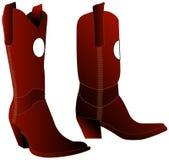 коричневый цвет ботинок Стоковая Фотография RF
