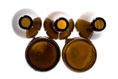 коричневый цвет бутылки пива пустой Стоковое фото RF