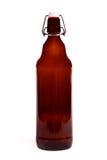 коричневый цвет бутылки пива пустой Стоковые Изображения