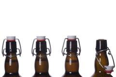 коричневый цвет бутылки Стоковая Фотография