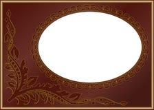 коричневый цвет граници иллюстрация штока