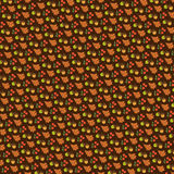 Коричневый цвет жолудей и листьев дуба иллюстрация вектора