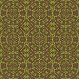 Коричневый цвет зеленого цвета картины круга Seamlessregular иллюстрация штока