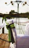 Коричневый цвет зеленого цвета украшения свадьбы стоковая фотография