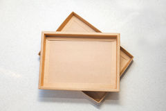 коричневый цвет коробки Стоковое фото RF