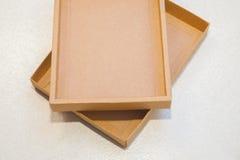коричневый цвет коробки Стоковые Изображения