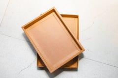 коричневый цвет коробки Стоковое Фото