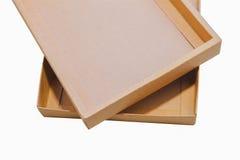 коричневый цвет коробки Стоковая Фотография RF