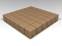 коричневый цвет коробок Стоковые Изображения RF