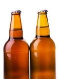 Коричневый цвет пивной бутылки Стоковые Фото
