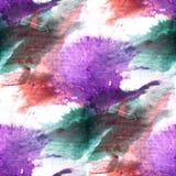 Коричневый цвет предпосылки настенной росписи, пурпур, зеленое безшовное backgrou картины Стоковое фото RF