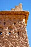 коричневый цвет старый в Африке Марокко и около башни Стоковые Изображения RF