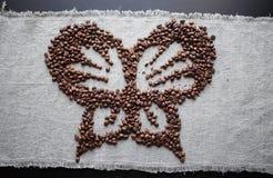 Коричневый цвет фасоли элемента предпосылки кофе серый стоковое изображение rf