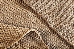 Коричневый цвет шерстяной ткани Стоковые Фото
