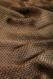 Коричневый цвет шерстяной ткани Стоковые Фотографии RF