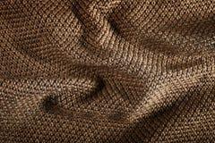 Коричневый цвет шерстяной ткани Стоковые Изображения RF