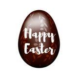 Коричневый цвет, яичко шоколада с ветвями Стоковое Изображение