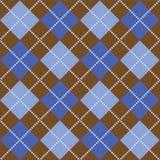 коричневый цвет argyle голубой Стоковые Фотографии RF