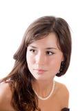 коричневый цвет eyes девушка Стоковая Фотография RF