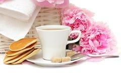 коричневый чай сахара блинчика цветка Стоковые Фото
