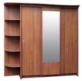 коричневый шкаф старого типа Стоковые Изображения