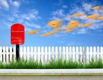 коричневый postbox габарита Стоковое Изображение RF