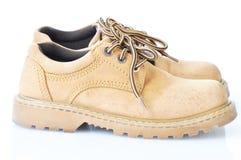 коричневыми гулять используемый ботинками Стоковые Фото