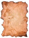 коричневым бумага ожога изолированная grunge Стоковая Фотография RF