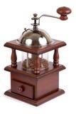 коричневым w изолированный механизмом настройки радиопеленгатора ручной деревянный Стоковое Фото