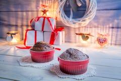 2 коричневых булочки для рождества Стоковые Фотографии RF