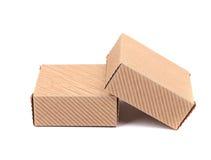 2 коричневых подарочной коробки. Стоковая Фотография