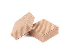 2 коричневых подарочной коробки. Стоковое фото RF