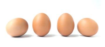 4 коричневых яичка цыпленка Стоковое Фото