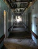 Коридор в старой больнице Стоковое Изображение RF