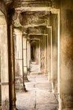 Коридор в Angkor Wat Стоковые Изображения RF