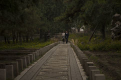 Коридор в xiangshan Пекине Китае Стоковые Изображения RF