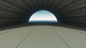 коридор 3d иллюстрация штока
