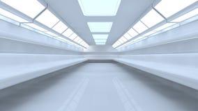 коридор 3d иллюстрация вектора