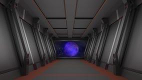Коридор Sci fi иллюстрация штока