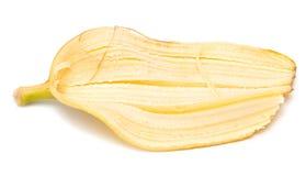 Корка банана на белой предпосылке Стоковая Фотография RF