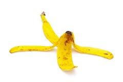 Корка банана на белой предпосылке Стоковые Изображения RF
